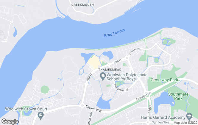 Map for hi-residential, Thamesmead