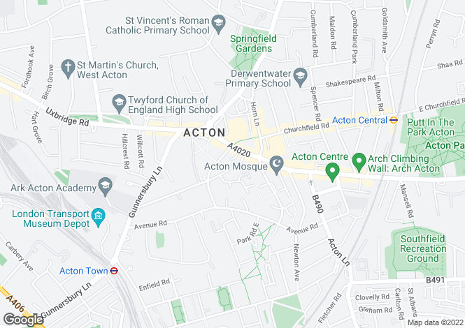 Map for Benjamin House, High Street, Acton