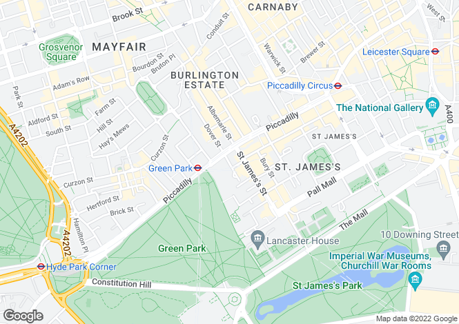 Map for Walpole Mayfair, 4-5 Arlington Street, London, SW1A