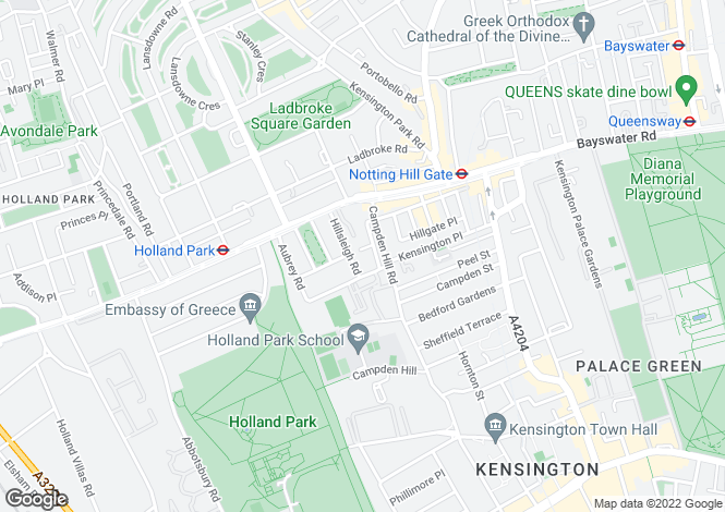 Map for Campden Hill Gardens, London W8