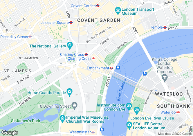 Map for Craven Street, Charring Cross, Strand, London, WC2N 5NT