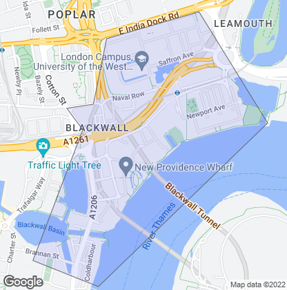 Map of property in Blackwall