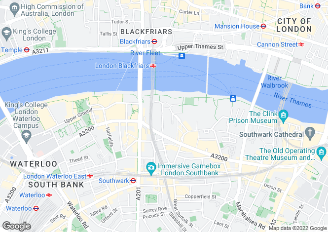 Map for Bankside, London