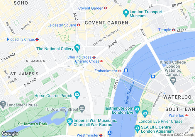 Map for Craven Street, Westminster, WC2N