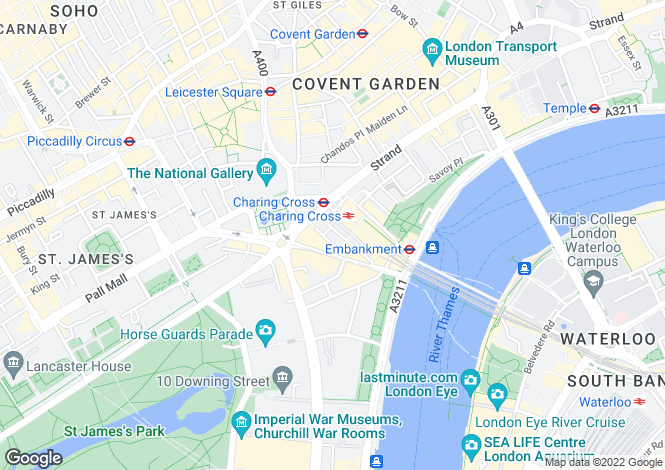 Map for Craven Street, Covent Garden, WC2N