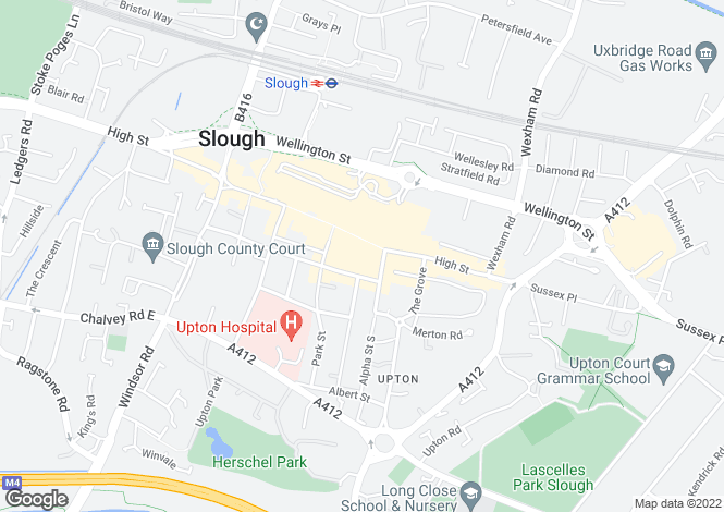 Map for High Street, SLOUGH