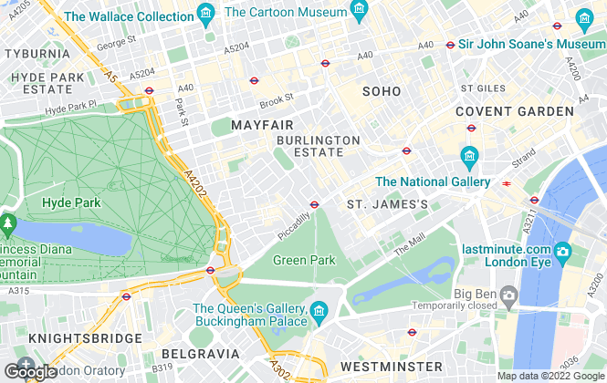 Map for GVA, London - Residential
