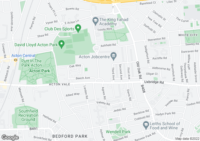 Map for Bromyard House, Bromyard Avenue, Acton