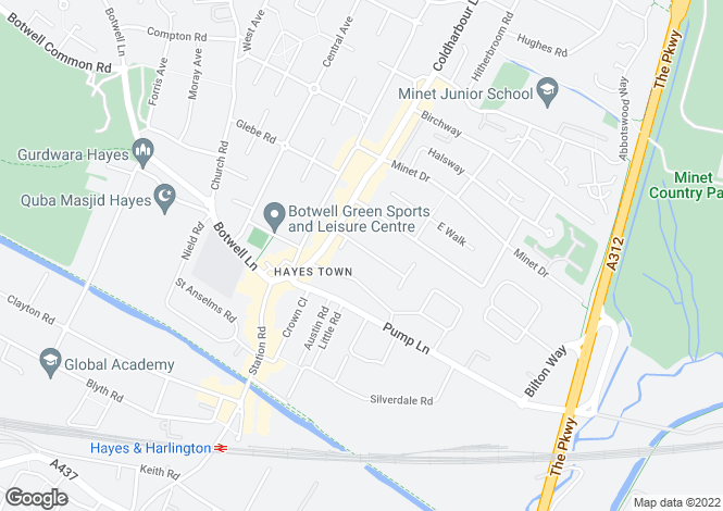 Map for Fairdale Gardens, Hayes, Middlesex, UB3 3JA
