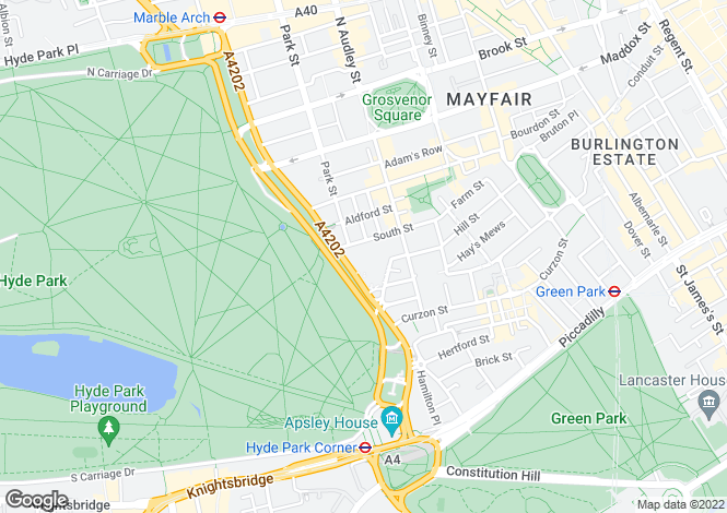 Map for Park Lane, London
