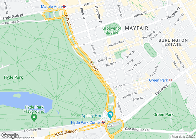 Map for Hyde Park Residence, 60 Park Lane, London