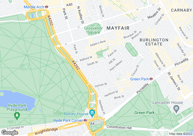 Map for South Audley Street, Mayfair, London, W1K