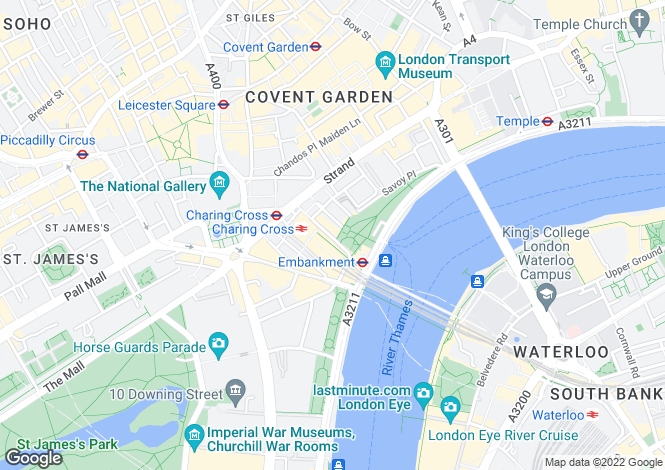 Map for Kipling House, Covent Garden