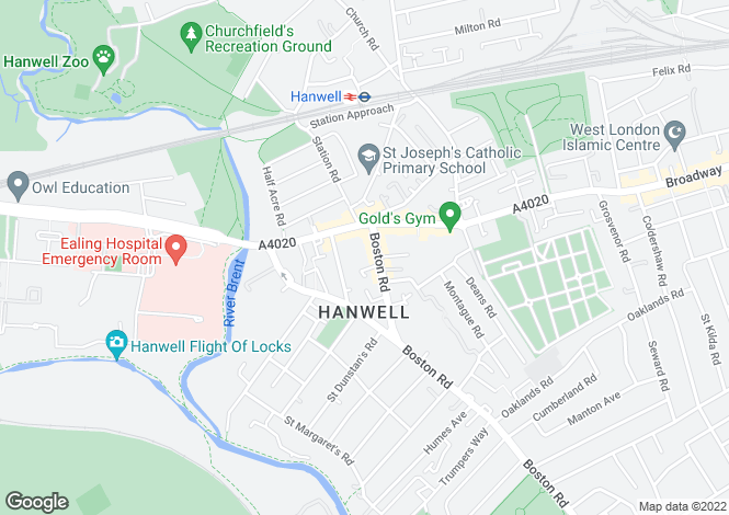 Map for Clocktower Mews, Hanwell