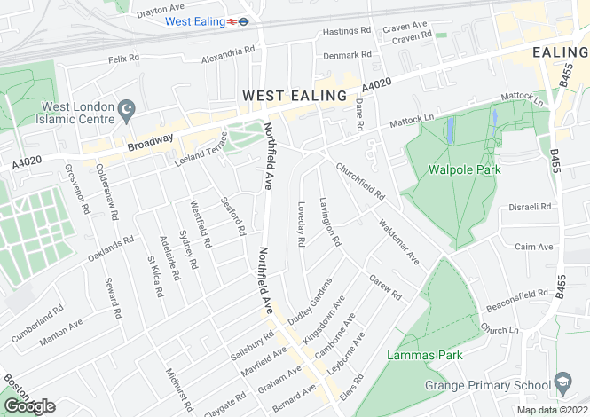 Map for OLYMPIC LET - Loveday Road, Ealing