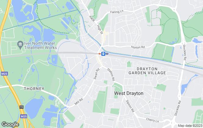 Map for Kearns Residential, West Drayton