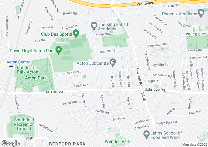 Map for Bromyard Avenue, Acton