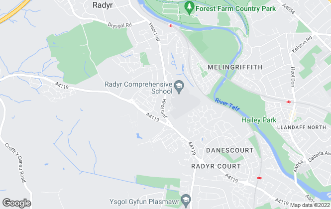 Map for Bellway Homes (Wales)