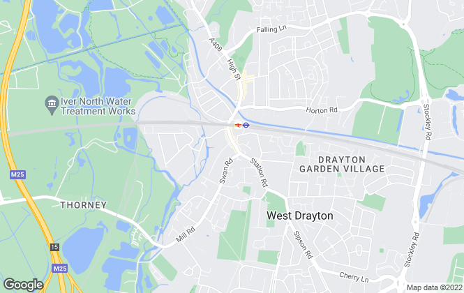 Map for Oakwood Estates, West Drayton