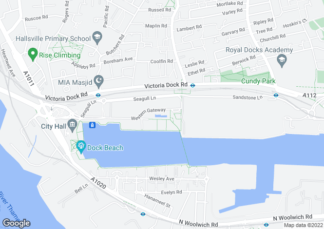 Map for Warehouse W, Western Gateway, Royal Victoria Dock, E16