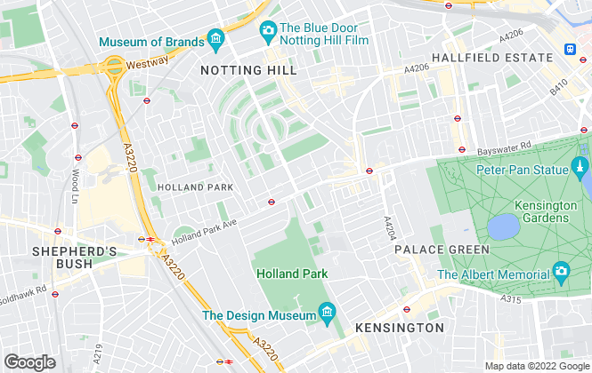 Map for Lurot Brand, Notting Hill