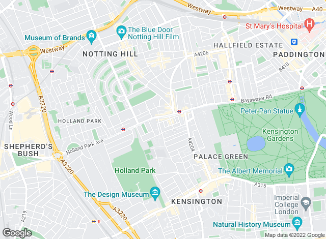 Map for Chard, Notting Hill & Kensington - Lettings