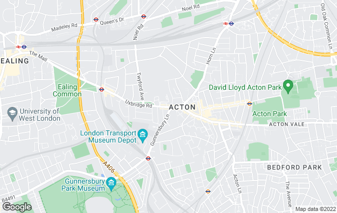 Map for J W & SONS, Acton