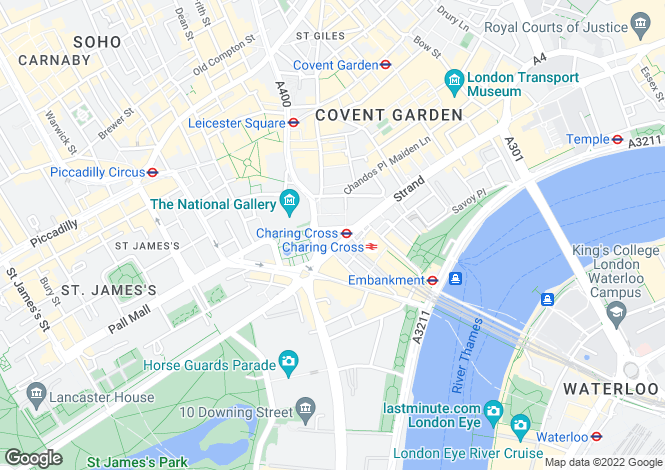 Map for Duncannon Street,