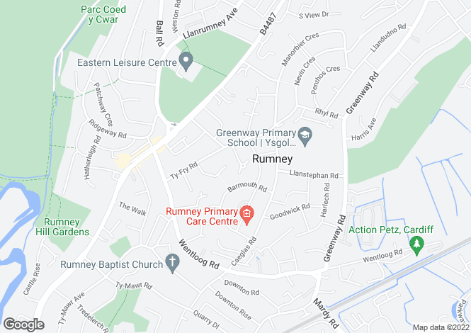 Map for Farmleigh Road, Rumney, Cardiff