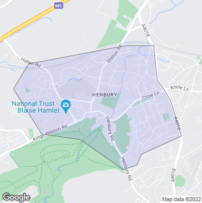 Map of property in Henbury