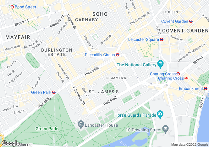 Map for Jermyn Street,