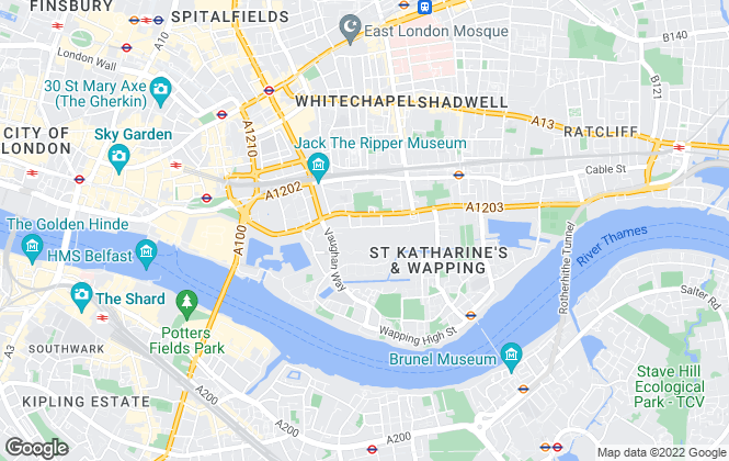 Map for Benham & Reeves Lettings, Wapping