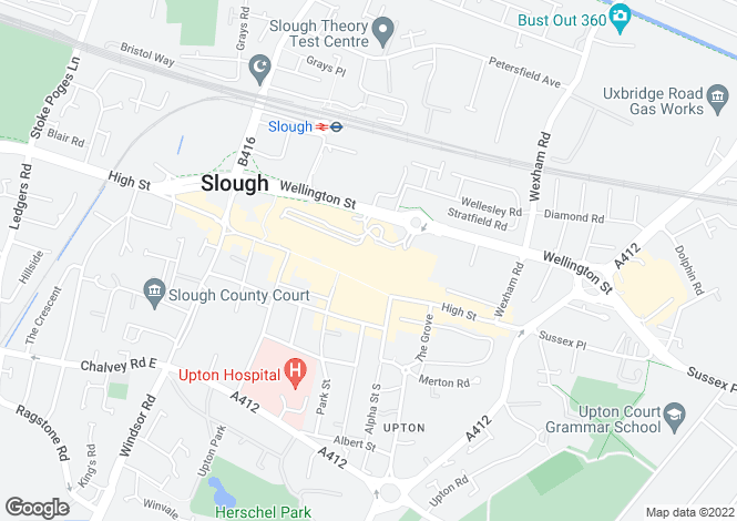 Map for The Observatory, High Street,