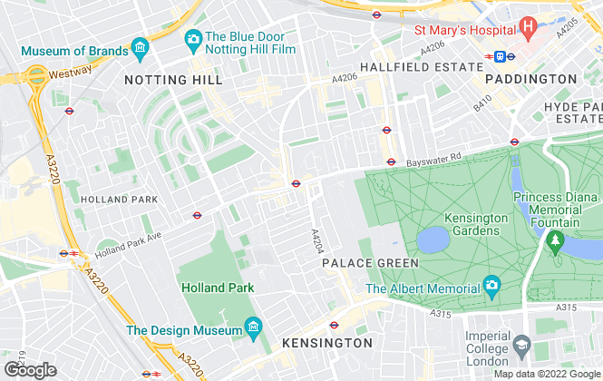 Map for Relo Redac Strattons, Notting Hill Gate