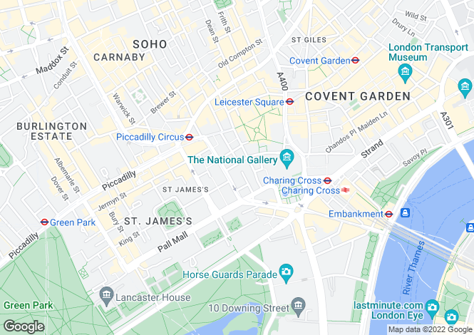 Map for Orange Street,