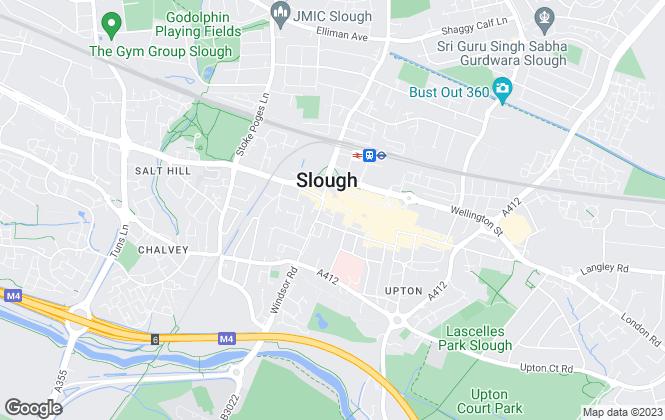 Map for Barrett & Thomson Estates , Slough