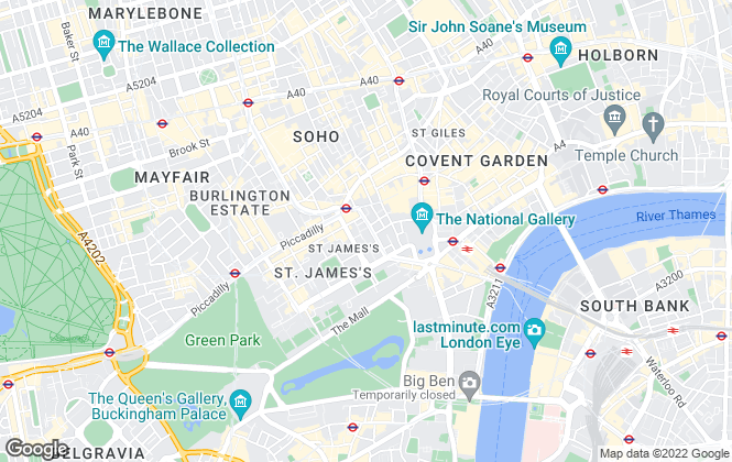 Map for ASTON ROSE LIMITED, London