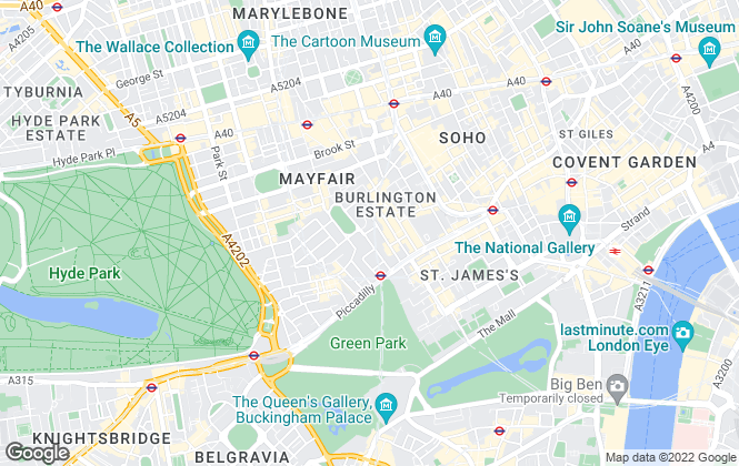 Map for The London Broker, Mayfair