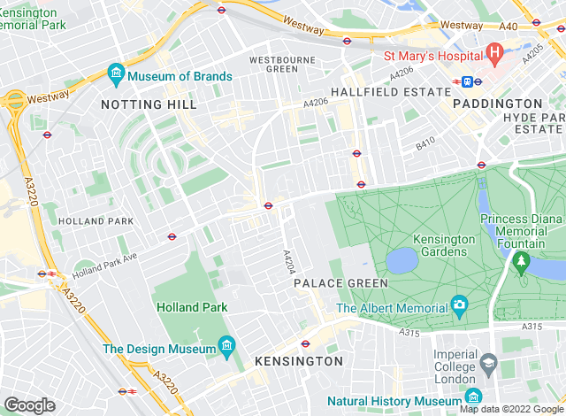 Map for Anscombe & Ringland, Notting Hill