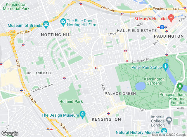 Map for Foxtons, Notting Hill