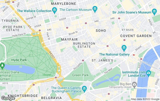 Map for The London Broker, Mayfair
