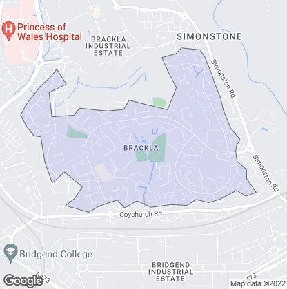 Map of property in Brackla