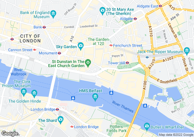 Map for Great Tower Street, London, EC3R