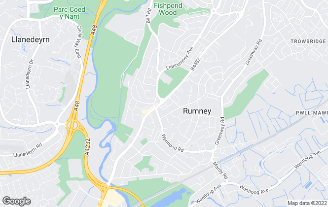 Map for Cardiff Homes, Rumney