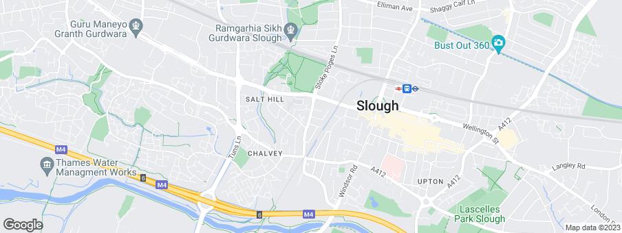 Map for Slough Urban Renewal LLP
