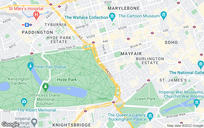 Map for Foxtons, Park Lane