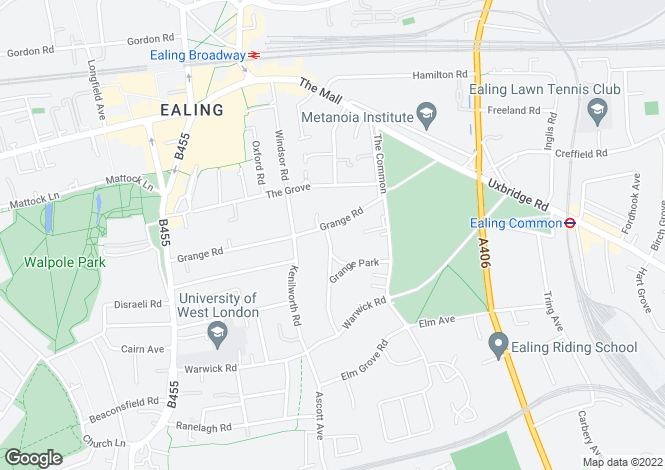 Map for Ealing