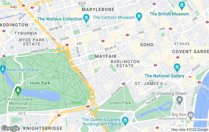 Map for Carter Jonas, Mayfair