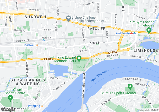 Map for Glamis Place, The Highway, Wapping, London, E1W 3EF