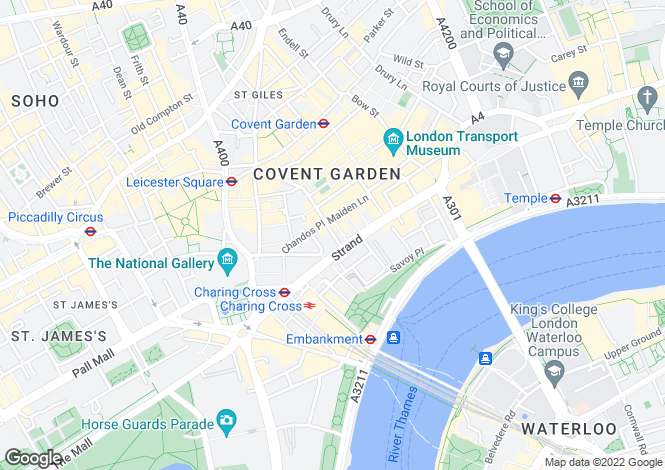 Map for Bedford Street, Covent Garden, London, WC2E